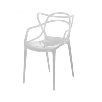 Cadeira em Polipropileno Monobloco Allegra Branco - Ref.F915000 - GARDEN LIFE
