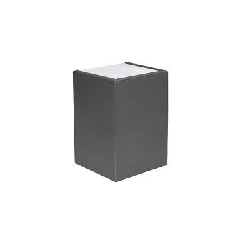 Arandela Aço com 2 Fachos e Lente de Vidro Cinza Concreto - Ref.159010-14- BLUMENAU