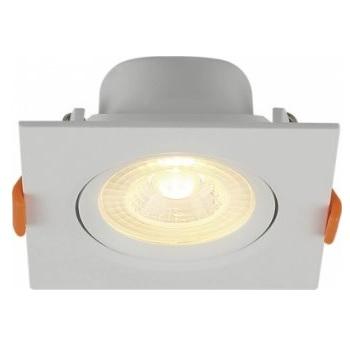 Spot Led em Abs de Embutir Quadrado 3w Bivolt 3000k Branco - Ref.80223004 - BLUMENAU