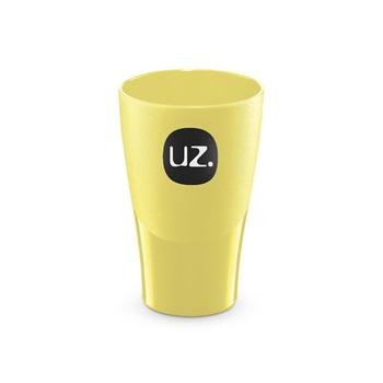 Copo de Plástico Sólido 300ml Amarelo Claro - Ref.UZ111-AMC - UZ