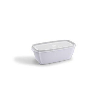 Pote de Plástico Sólido 500ml Branco - Ref.UZ250-Br - UZ