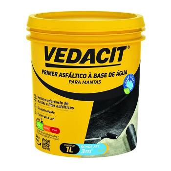 Primer Asfáltico para Manta 1 Litro à Base de Água - Ref. 121834 - VEDACIT