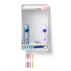 Armário para Banheiro de Plástico 22,5X38,6X8cm Basic Roalete Branco - Ref.PR6100/1 - ATLAS
