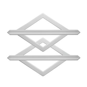 Fivela em Polipropileno Losango Tamanho Único Branco - Ref. PFVP1.10 - BELLA ARTE