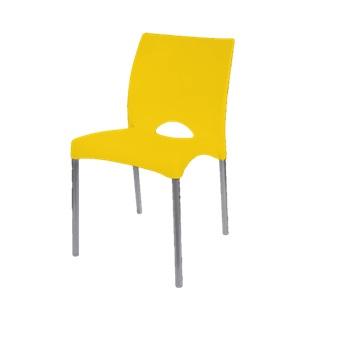 Cadeira em Polipropileno Boston Amarela - Ref.F900007 - GARDENLIFE