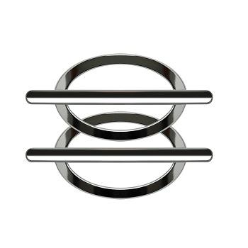 Fivela em Polipropileno Oval Tamanho Único Cromado - Ref. PFVP2.48 - BELLA ARTE