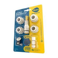 Kit Fácil em Latão Salva Registro de Pressão 9 em 1 - Ref. 061422-21 - BLUKIT