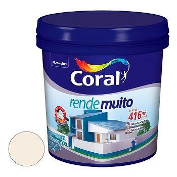 Tinta Acrílica Fosca 15 Litros Rende Muito  Branco - Ref.5585893 - CORAL