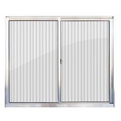 Janela de Alumínio 80x80 2 Folhas Vidro Canelado Home - Ref. EMC022003 - QUALITY