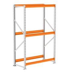 Mini Porta Pallet 250kg Inicial 2x1,2x0,6m Cinza e Laranja - Ref. PK050006-2297 - AMAPÁ