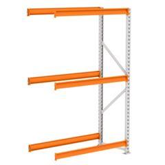 Mini Porta Pallet 250kg Continuação 2x1,2x0,6m Cinza e Laranja - Ref. PK050004-2297 - AMAPÁ