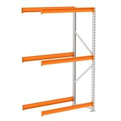 Mini Porta Pallet 250kg Continuação 2x1,8x0,6m Cinza e Laranja - Ref. PK050005-2297 - AMAPÁ