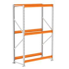 Mini Porta Pallet 250kg Inicial 2x1,8x0,6m Cinza e Laranja - Ref. PK050007-2297 - AMAPÁ