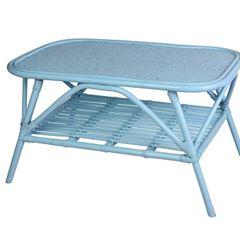 Mesa em Fibra Rattan 80x50x45cm Turquesa - Ref. J09151570 - KOOPMAN
