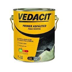 Primer Asfáltico 3,6 Litros à Base de Água Preto - Ref. 121835 - VEDACIT