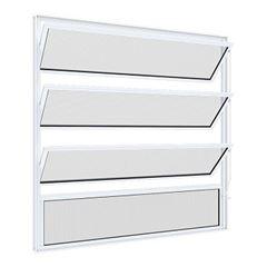 Basculante em Alumínio 50Lx50A Soft Mini Boreal Branco - Ref. 6833 - MGM