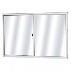 Janela em Alumínio com 2 Folhas Vidro Liso 80Lx80A Fênix Branca - Ref. 37088 - MGM
