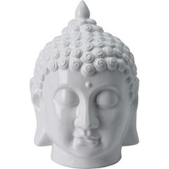 Cabeça de Buda em Cerâmica Decorativa Branca - Ref. NB1450470 - EXCELLENT HOUSEWARE