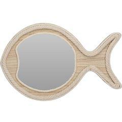 Espelho de Madeira Fish Redondo - Ref. NB3305150 - EXCELLENT HOUSEWARE