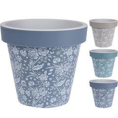 Vaso de Plástico 20cm Decorativo - Ref. Y54195970 - EXCELLENT HOUSEWARE