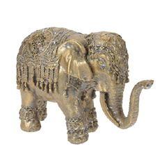 Elefante de Poliéster 197x7x12cm Dourado - Ref. 095705680 - EXCELLENT HOUSEWARE