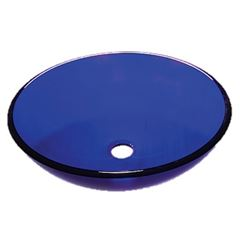 Cuba de Apoio em Vidro 30x30cm Oval Bali 30 Azul - Ref. DMR80702 - DIMAR