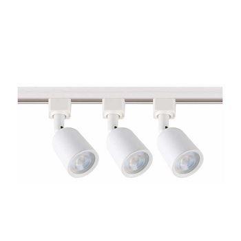 Kit Trilho 3 Spot em ABS LED 5w 6500K Branca - Ref.DI80931 - DILUX