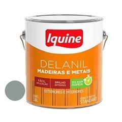 Tinta Esmalte Brilhante Delanil Cinza Médio 3,6 Litros - Ref.195200701 - IQUINE
