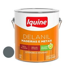 Tinta Esmalte Brilhante Delanil Cinza Escuro 3,6 Litros - Ref.195200801 - IQUINE